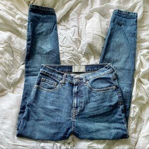 Everlane Medium Wash Blue Denim Jeans 26 Ankle